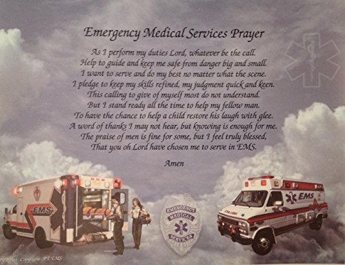 Emergency Medical Services Prayer (EMS) (EMT) Gift Idea For Any Occasion Father's Day Birthday