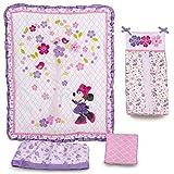 Disney Baby Minnie Mouse Love Blossoms Premier 4-Piece Crib Bedding Set