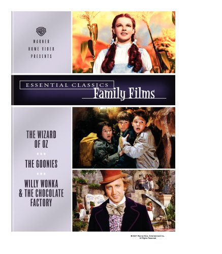 Cover art for  Essential Classics - Family Films (The Wizard of Oz / The Goonies / Willy Wonka and the Chocolate Factory)