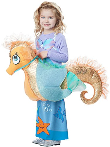 Kids Mermaid Riding a Seahorse Rider Costume