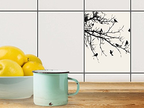 fliesen aufkleber deko dekorsticker badfliesen k chen folie wanddeko 15x20 cm design motiv. Black Bedroom Furniture Sets. Home Design Ideas