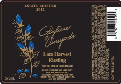 2012 Pugliese Vineyards Late Harvest Riesling 375 Ml