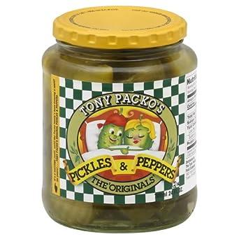 Tony Packos Original Pickles and Pepper, 24 Ounce -- 12 per case.