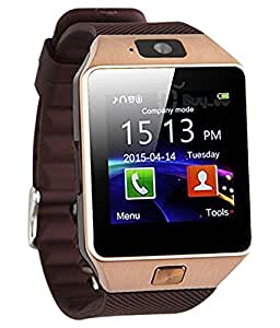 piyon 1.6 Inch Touch Screen Smart Watch Phone With Camera- Sim Micromax Smart Phone All Model- Golden