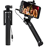 Selfie Stick, 21℃ Wired Self-portrait Monopod Foldable Extendable Selfie Stick With Remote Shutter Adjustable...