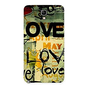 Delighted Love Typo Multicolor Back Case Cover for Galaxy Note 3 Neo