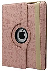 KolorFish iFun Designer Leather Flip Stand iPad Cover Case for Apple iPad 2, iPad 3, iPad 4 (Light Pink)