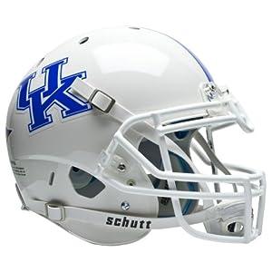 NCAA Kentucky Wildcats Authentic XP Football Helmet, White by Schutt