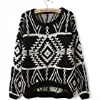 2013 Autumn New Casual Knit Woman Pullovers Sweater (Black)