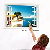 Romantic Hotel Scenery Vinyl Window Kid's Room Home Dcor Art Removable Wall Sticker 23'' X 35''inches