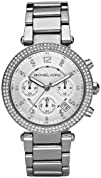 Michael Kors Parker Glitz Watch Silver Color