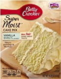 Betty Crocker Supermoist Cake Mix, Natural Vanilla, 15.25-Ounce (Pack of 6)