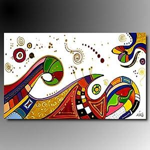 Art mmb party 1 quadri moderni astratti dipinti a mano for Amazon quadri moderni astratti
