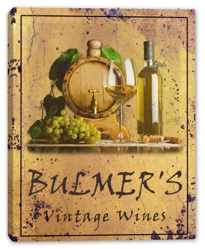bulmers-family-name-vintage-wines-stretched-canvas-print-16-x-20