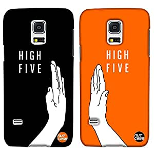 Designer Samsung Galaxy S5 Mini Case Cover For Couples Nutcase -2 Cases in one package-High Fives