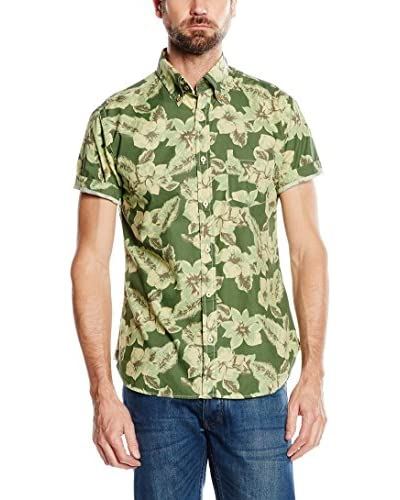 Cortefiel Hemd grün