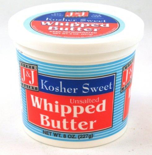 J&J - Cholov Yisroel Unsalted Whipped Butter (8 oz.) - 4 Pack