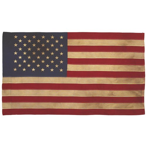 Valley Forge Flag Heritage Series 3 x 5 Foot Antiqued Cotton 50-Star US American Flag (Vintage Flag compare prices)