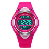 HIwatch Kids Sport Watch Waterproof Swimming LED Digital Watch with Alarm Back Light Stopwatch for Boys Girls 7+ Years Old Pink, for Kids Children
