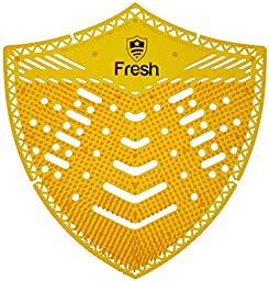 The Original Fresh Shield 10-pack (Orange Citrus) - Urinal Screens Deodorizer and Splash Guard