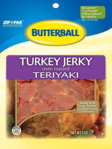 butterball-3oz-oven-roasted-teriyaki-turkey-jerky-3-re-sealable-3oz-turkey-jerky-packs-per-bag-by-mo
