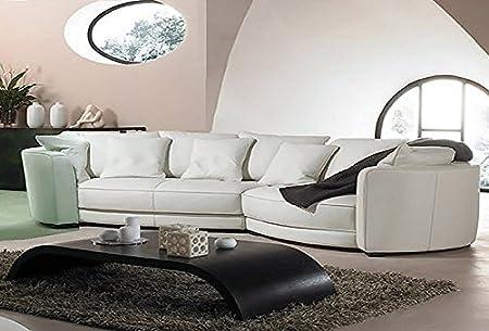 Calia Maddalena - Imperial poltrona - 118x84x90 cm in Pelle Spessorata Bianco per Divano angolare Imperial