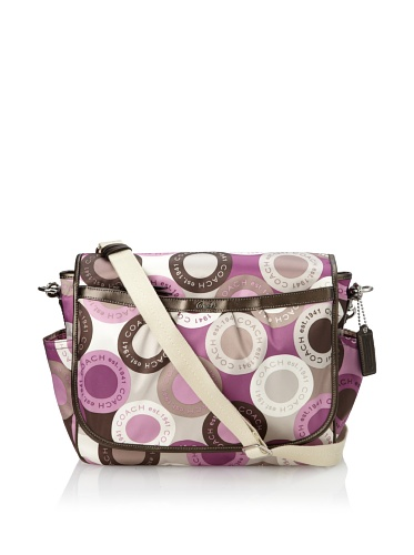 Coach Snaphead Signature Baby Diaper Messenger Bag Purse Tote 18377 Pink Multi