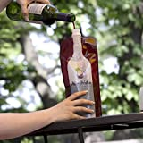 Plastic Wine Flask For Men, Women - A Great Personalized Wedding Gift or Funny, Unique, Birthday Gifts for Best Friend, Him, Her, Dad, Mom, Grandma - Great Novelty Booze 2go Gift Basket Accessory