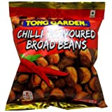 Broad Beans Snack Chilli Flavoured Net Wt 60g (2.11 Oz.) Tong Garden Brand X 3 Bags