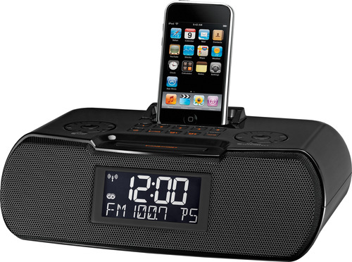 geek gifts 2011 sangean rcr 10 atomic clock radio with ipod dock techrepublic. Black Bedroom Furniture Sets. Home Design Ideas