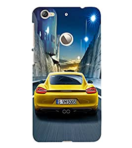 Fuson Premium Back Case Cover Race car With white Background Degined For Letv Le 1S
