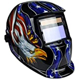 Instapark ADF Series GX-350S Solar Powered Auto Darkening Welding Helmet with Adjustable Shade Range #9 - #13 (Patriotic)