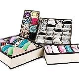 NO:1 Cremefarbene Schubladenunterteilungen Kleiderschrank Veranstalter Aufbewahrungsboxen Set 4