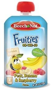 Beech-Nut Fruities On The Go Puree, Pear Banana Raspberry, 4 Ounce (Pack of 16)