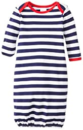 Zutano Unisex-Baby Preemie/Newborn Primary Stripe Gown, Navy/White, New Born