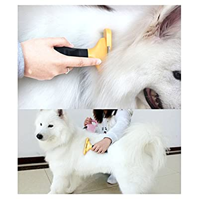 Dog Cat Pet Shedding Grooming Tools Trimmer Comb Brush,Keep Room Clean,Make hair more brightness