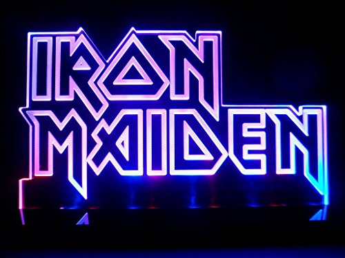 Iron Maiden Logo Heavy Metal Led Desk Lamp Night Light Beer Bar Bedroom Signs