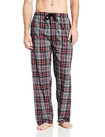 Hanes Men's Woven Plaid Pajama Pant, Moss/Navy Plaid,XX-Large