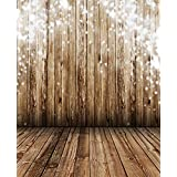 Microbuy 5x7ft Silk Photography Background Photo Backdrops Nostalgia wood floor Wood Floor Props for Studio (Updated Material)