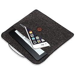 Kindle Oasis Sleeve Case, Pasonomi Premium Felt Sleeve Case - Portable Carrying Protective Case Cover Pouch for Amazon Kindle Oasis, Kindle Paperwhite, Kindle Voyage (Black)