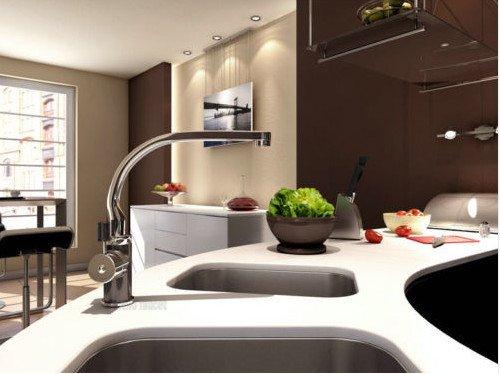 Single Handle Swivel Spray Waterfall Bathroom Tap Vessel Mixer Kitchen Sink&Basin Faucet , Chrome Finish Ys8161 front-306397