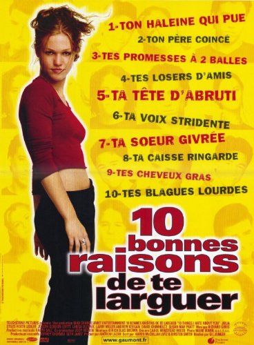 Ten+Things+I+Hate+About+You+Poster+Movie+French+11x17+Julia+Stiles+Heath+Ledger+Larisa+Oleynik