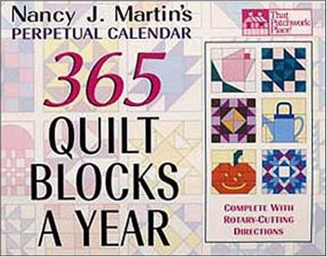 365 Quilt Blocks a Year Perpetual Calendar (That Patchwork Place) (365 Day Quilt Block Calendar compare prices)