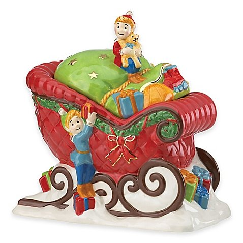 Kathy Ireland Home by Gorham Once Upon a Christmas Sleigh Cookie Jar (G250 Foodsaver compare prices)