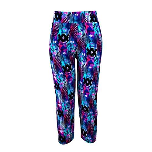 Ouneed® Yoga Sport pants,Vita Alta YOGA di Forma Fisica di Sport Pantaloni Stampati Stirata Potati Leggings OR/S (Viola, M)
