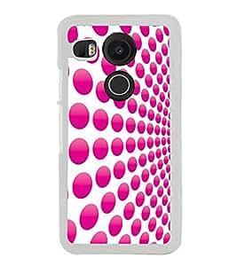 Pink Dot Pattern 2D Hard Polycarbonate Designer Back Case Cover for LG Nexus 5X :: LG Google Nexus 5X New