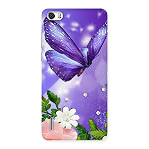 Stylish Voilate Butterfly Back Case Cover for Honor 6