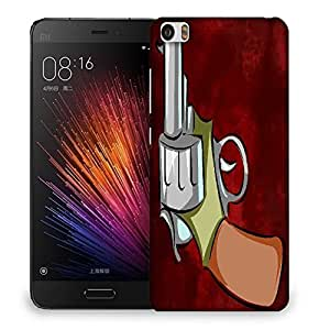 Snoogg Pistol Red Designer Protective Back Case Cover For SONY XPERIA M5