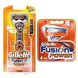 Gillette Fusion Power 1レイザー+4カートリッジリフィルブレイド [並行輸入品]