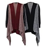 Ladies Cardigan Womens Knitted Jumper Boyfriend Waterfall Open Front Winter New